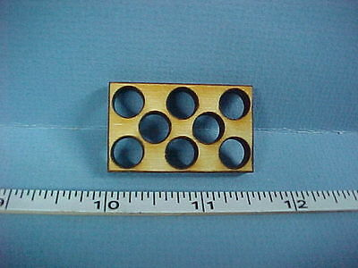 Crate Insert/Divider - (8 hole round) - Dollhouse Miniature