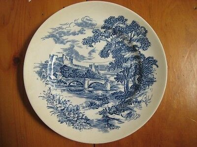 """ENOCH WEDGWOOD BLUE COUNTRYSIDE 10"""" DINNER PLATE AS IS"""
