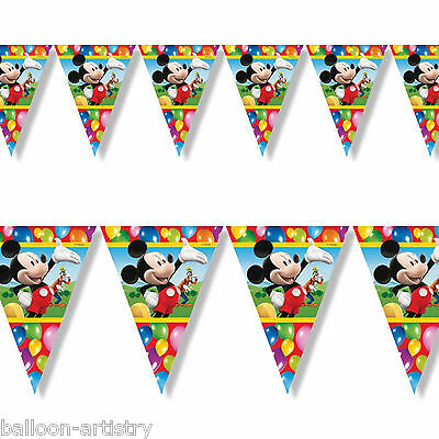 2m Disney Mickey Mouse Balloons Clubhouse Party Pennant Banner Bunting
