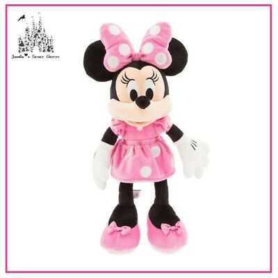 """Disney Mickey Mouse Clubhouse - Minnie Mouse Pink Dress 18"""" Plush Toy Doll New"""