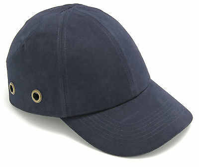 Blackrock Navy Bump Cap Safety Work Hard Hat Vented Baseball Mens Cap (7001100)