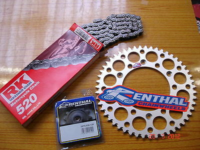 RK Chain And Silver Renthal Sprocket Kit KTM SX EXC SXF 125/144/200/250/300/450