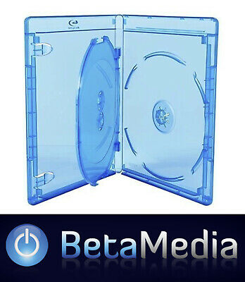 100 x Blu ray Triple 14mm Quality cases with logo Blu-ray *** Holds 3 ***