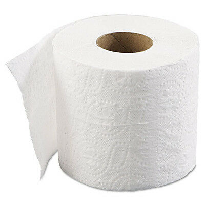 96 Rolls Toilet Paper  Bath Tissue, 2-Ply, 500 Sheets/Roll, 1.64 in Core