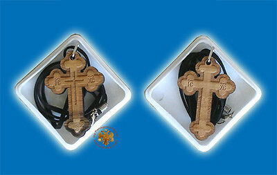Orthodox Engraved Byzantine Wooden Cross Crucifix Orthodoxes Kruzifix Kreuz Holz