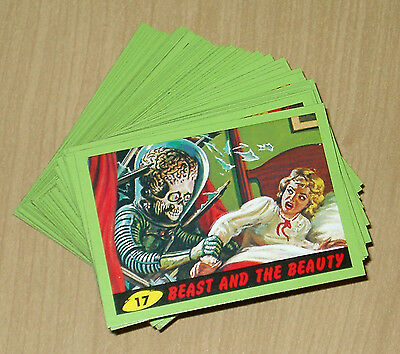2012 Topps Heritage MARS ATTACKS complete GREEN parallel 55-card set IN STOCK