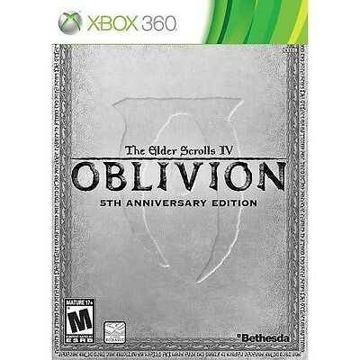The Elder Scrolls IV: Oblivion 5th Anniversary Edition (XBOX 360, Videogame) New