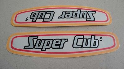 Honda C50 C100 C102 C105 Super Cub gas tank YELLOW paper stickers emblems H2099
