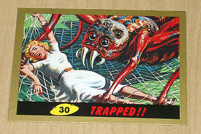 2012 Topps Heritage MARS ATTACKS GOLD parallel Trapped #30