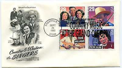 2771-74 Country & Western Singers Artcraft block of 4, FDC