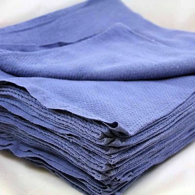 12 1 doz new blue glass cleaning shop towel/huck towels