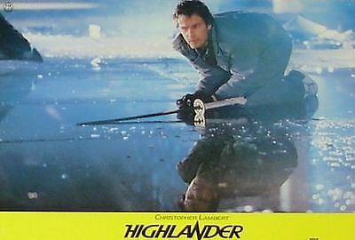 HIGHLANDER - Lobby Cards Set - VERY RARE - Christopher Lambert, Sean Connery