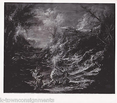 BAPTISM OF CHRIST PAINTING BY MAGNASCO VINTAGE 1970s NEWS PRESS PHOTO