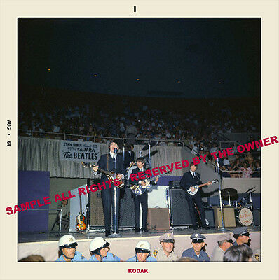 Beatles First U.s. Tour 1964 Snapshot 5 By 5 Color Security At Stage Color New