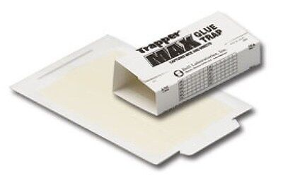 48 Trapper Max Mouse and Insect Glue Board Sticky Traps Control Mice Spiders etc