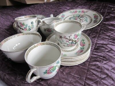Beautiful Vintage Job Lot of Maddock Indian Tree Design Pottery Cups, Plates etc