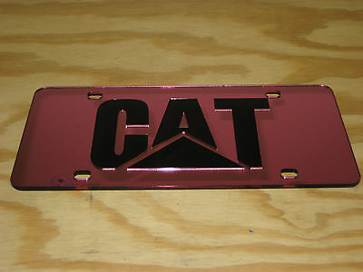 John Deere laser cut inlayed Pink tag Black letters