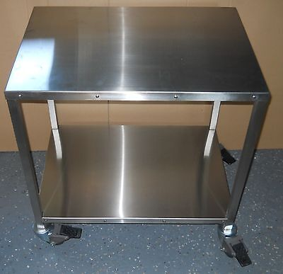 """Cart, Utility, 26.5x18.5x27.5 High, All Stainless, 3"""" locking casters, 5004073"""