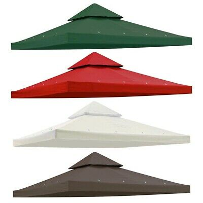 8x8' 2 Tier Gazebo Top Canopy Replacement Cover UV30+ Outdoor Backyard Patio