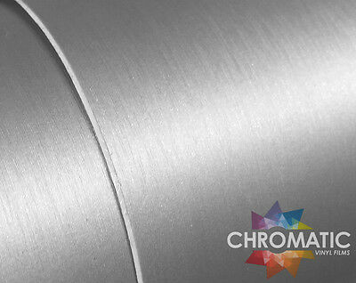 Brushed Aluminium Wrap 1.52 x 3M - Silver Bubble Free Car Wrapping Vinyl Foile