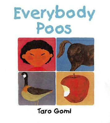 Everybody Poos by Taro Gomi Paperback Book Free Shipping!