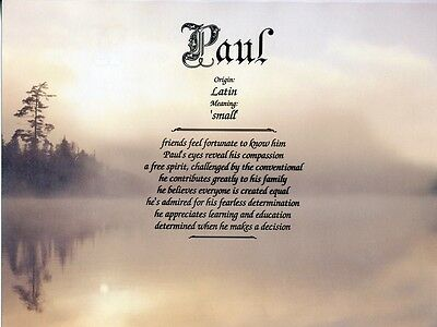 """Morning Mist"" Name Meaning Print Personalized (Nature Inspirational Landscape)"