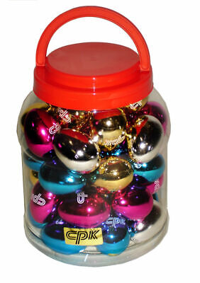 40 x Metallic Egg Shakers Maracas *NEW* Bulk School Percussion 4 Colours