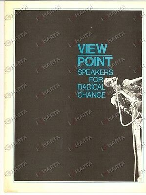 1973 NEW YORK Viewpoint - Speakers for Radical Change *Opuscolo PROPAGANDA