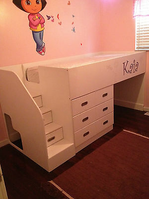 Kids Bed Blueprint Woodworking DIY Plans Drawings Project CNC Boy Girl Craft Fun