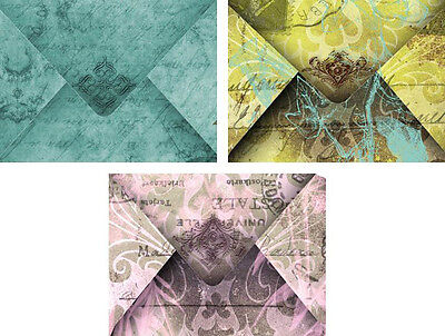 Vintage inspired small note gift envelopes craft scrapbooking set of 12