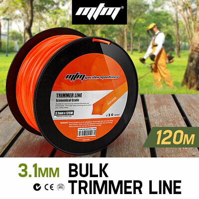 NEW MTM Trimmer Line 3.1mm x 120M Whipper Snipper Cord Brush Cutter Brushcutter