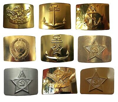 USSR Soviet Russian Army Navy VDV MVD Military Uniform Soldier Buckle for Belt