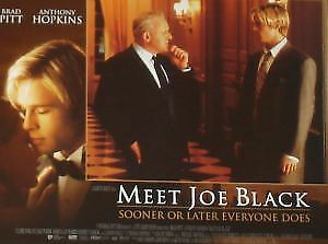 MEET JOE BLACK - 11x14 US Lobby Cards Set - Brad Pitt, Anthony Hopkins