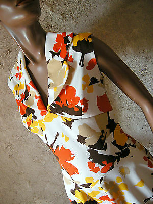 CHIC VINTAGE TOP ROBE 70s DRESS VTG ANNEES 70 KLEID ABITO 1970 RETRO (38)