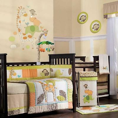 Wildlife 5 Piece Baby Crib Bedding Set with Bumper by Carters