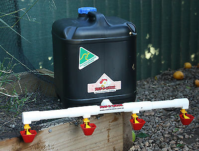 4 Cup / 20L Lubing Drinker / Waterer for 20+ Layers Great for Chickens / Poultry