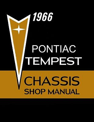 1966 Pontiac Tempest Lemans GTO Shop Service Repair Manual OEM