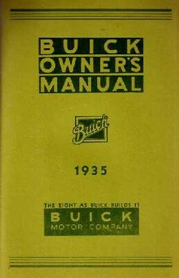 1935 Buick Owners Manual User Guide Reference Book