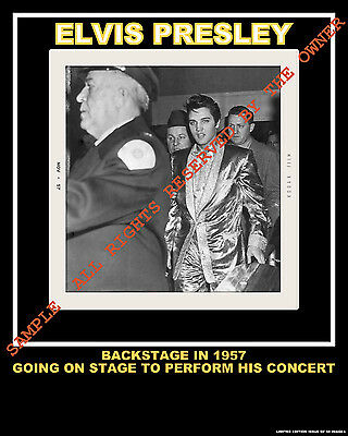 ELVIS PRESLEY COLLECTIBLE quality PHOTOGRAPH BACKSTAGE IN GOLD JACKET 8 X 10