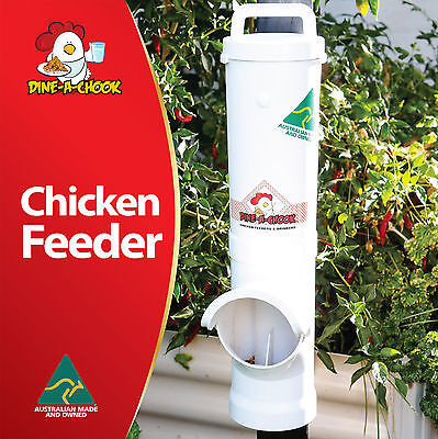 DINE-a-CHOOK 3.5L Chicken Feeder - Coop, Tractor or Free Range / Poultry Feeder