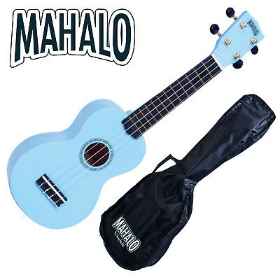 MAHALO Light Blue Soprano Ukulele MR1 inc. Bag Aquila Strings Fitted *New*