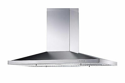 "Stainless Steel 30"" Kitchen Fan Oven Range Hoods Island Stove Ventilation System"