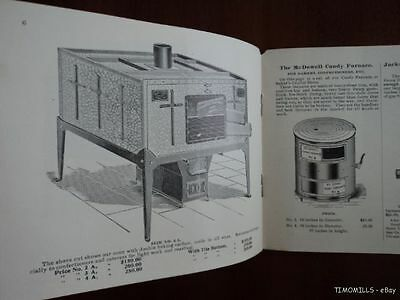 1900 McDowell Hotel Oven Stove Range Confectionery Candy Furnace Catalog Antique