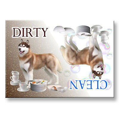 SIBERIAN HUSKY Clean Dirty DISHWASHER MAGNET No 2 DOG