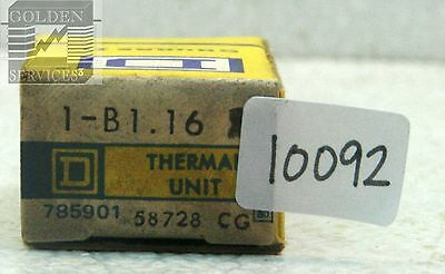 Square D B1.16 Overload Relay Thermal Unit
