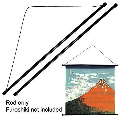 "Set of 2 PCS 30"" Japanese Furoshiki Plastic Stick String Wall Hanging Hanger Rod"