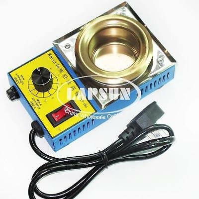 220V 150W Mini Stainless Steel Tin Furnace Lead Free Solder Pot Dia 50mm KLT350