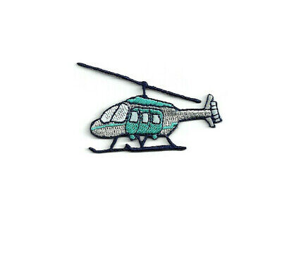 Flying Pilot Embroidered Iron On Patch Helicopter Transportation