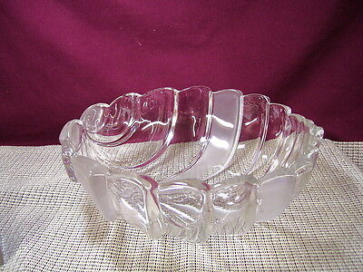 Mikasa Crystal Bolero Pattern Crystal and Frosted Bowl New