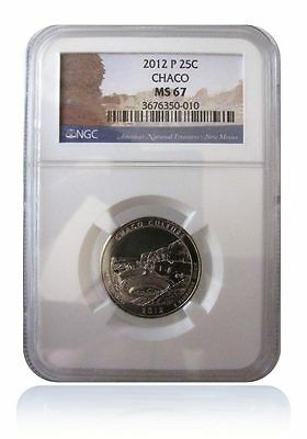 NGC MS67 2012-P Chaco Culture New Mexico National Park Quarter Gem Uncirculated